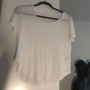 🐚 COS flowy white shirt